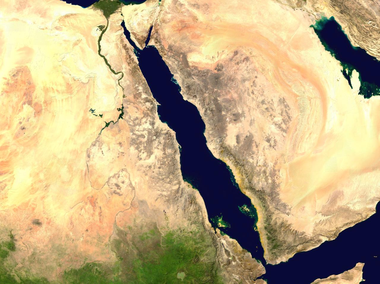 Red Sea from space by NASA